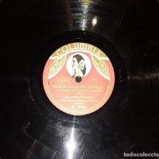 Discos de pizarra: DISCOS 78 RPM - ANTOÑITA MORENO - COLUMBIA FOTO - SAETA - PIZARRA. Lote 119503503