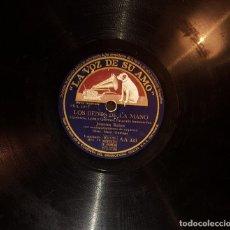 Discos de pizarra: DISCOS 78 RPM - JUANITA REINA - ORQUESTA - PASACALLE HUMORÍSTICO - PASODOBLE - PIZARRA. Lote 119506271