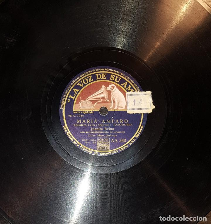 Discos de pizarra: DISCOS 78 RPM - JUANITA REINA - ORQUESTA - PASACALLE HUMORÍSTICO - PASODOBLE - PIZARRA - Foto 2 - 119506271