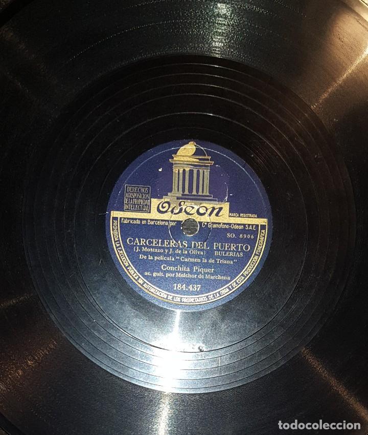 DISCOS 78 RPM - CONCHITA PIQUER - MELCHOR DE MARCHENA - CARMEN LA DE TRIANA - PIZARRA (Música - Discos - Pizarra - Flamenco, Canción española y Cuplé)