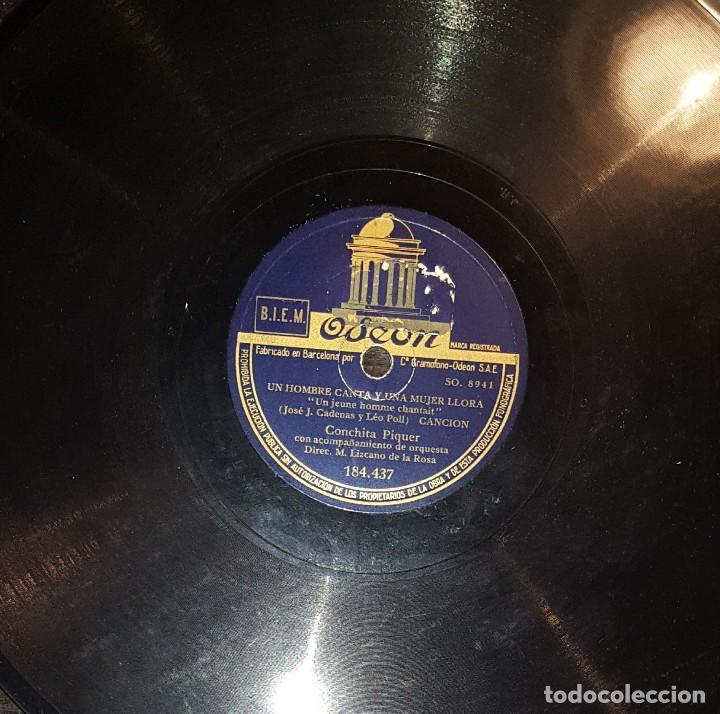 Discos de pizarra: DISCOS 78 RPM - CONCHITA PIQUER - MELCHOR DE MARCHENA - CARMEN LA DE TRIANA - PIZARRA - Foto 2 - 119506699