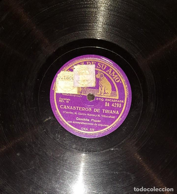 DISCOS 78 RPM - CONCHITA PIQUER - ORQUESTA - CANASTEROS DE TRIANA - TE QUIERO - PIZARRA (Música - Discos - Pizarra - Flamenco, Canción española y Cuplé)