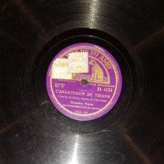 Discos de pizarra: DISCOS 78 RPM - CONCHITA PIQUER - ORQUESTA - CANASTEROS DE TRIANA - TE QUIERO - PIZARRA. Lote 119508239