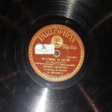 Discos de pizarra: DISCOS 78 RPM - IMPERIO ARGENTINA - ORQUESTA - LO MEJOR ES REIR - PIZARRA. Lote 119509055