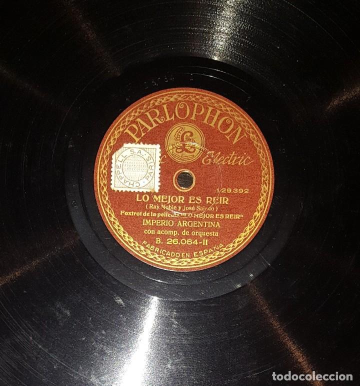 Discos de pizarra: DISCOS 78 RPM - IMPERIO ARGENTINA - ORQUESTA - LO MEJOR ES REIR - PIZARRA - Foto 2 - 119509055