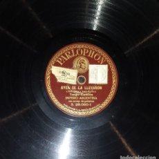 Discos de pizarra: DISCOS 78 RPM - IMPERIO ARGENTINA - GUITARRAS - TANGO - AYER SE LA LLEVARON - VIEJOS RECUERDOS. Lote 119510251