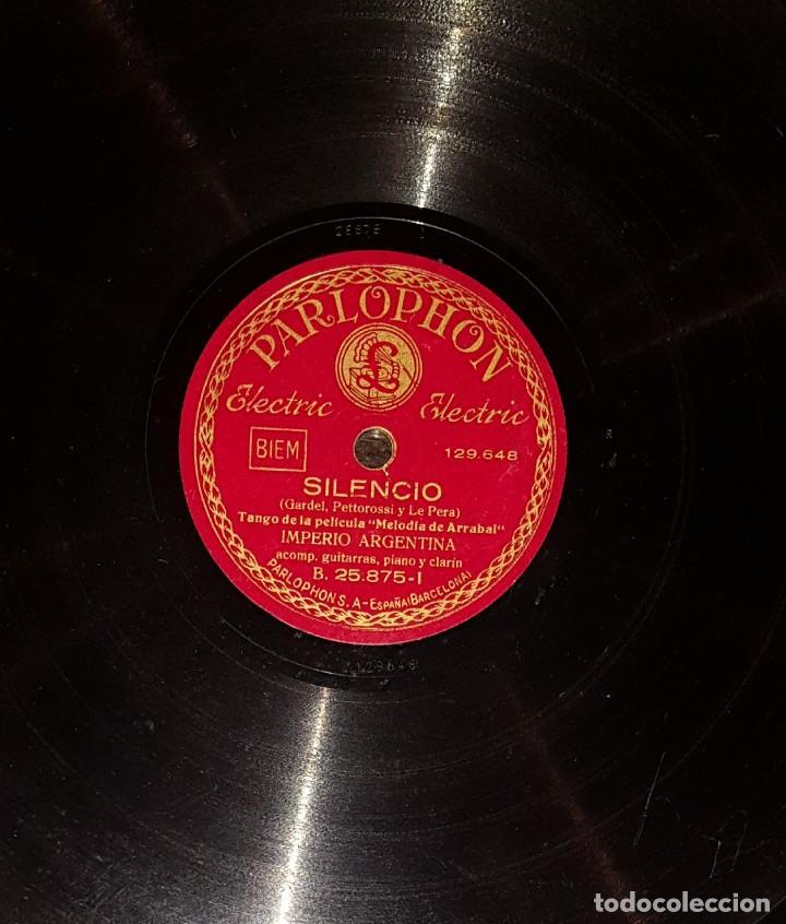 DISCOS 78 RPM - IMPERIO ARGENTINA - GUITARRAS - TANGO - MORUCHA - SILENCIO - PIZARRA (Música - Discos - Pizarra - Flamenco, Canción española y Cuplé)