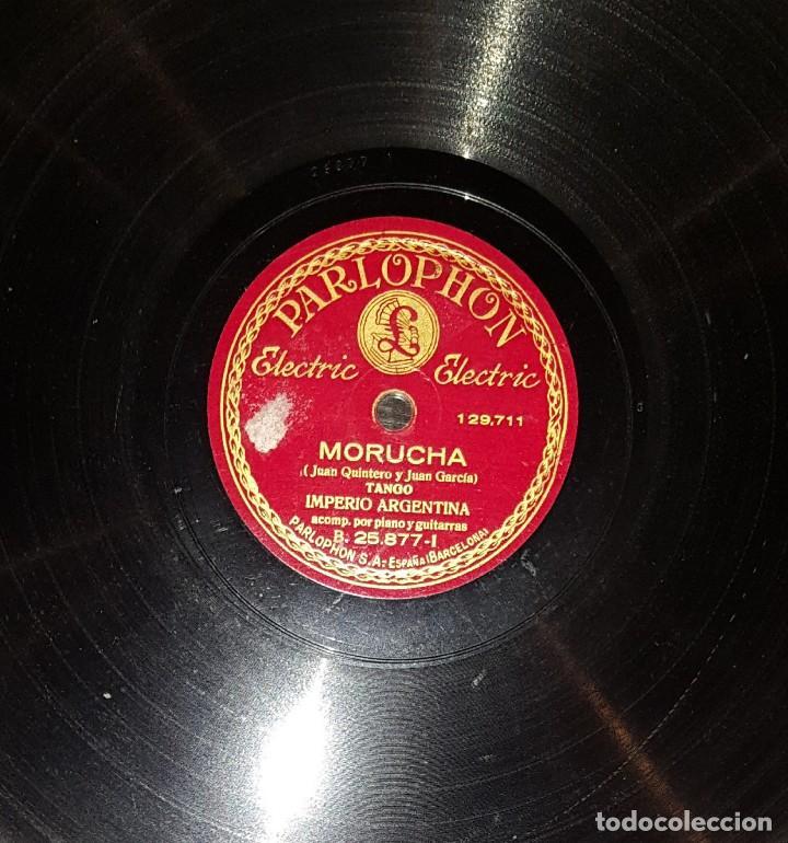 Discos de pizarra: DISCOS 78 RPM - IMPERIO ARGENTINA - GUITARRAS - TANGO - MORUCHA - SILENCIO - PIZARRA - Foto 2 - 119511463