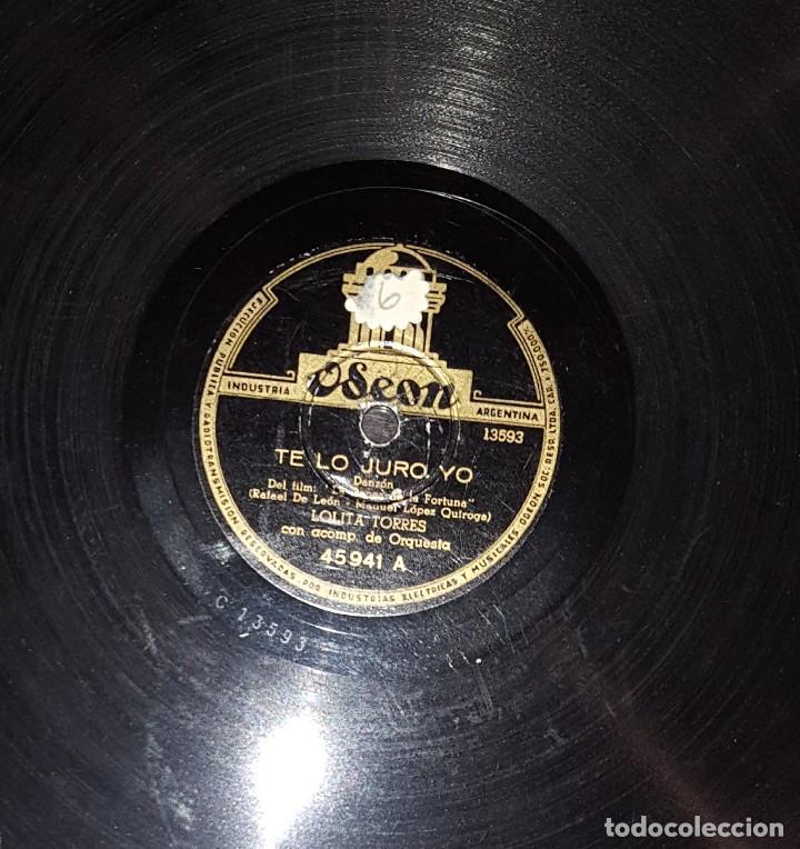DISCOS 78 RPM - LOLITA TORRES - ORQUESTA - LA DANZA DE LA FORTUNA - DANZÓN - FARRUCA - PIZARRA (Música - Discos - Pizarra - Flamenco, Canción española y Cuplé)
