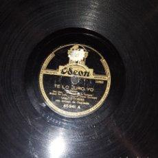 Discos de pizarra: DISCOS 78 RPM - LOLITA TORRES - ORQUESTA - LA DANZA DE LA FORTUNA - DANZÓN - FARRUCA - PIZARRA. Lote 119512819