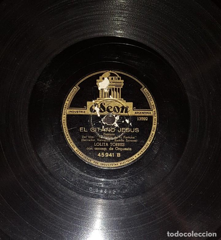 Discos de pizarra: DISCOS 78 RPM - LOLITA TORRES - ORQUESTA - LA DANZA DE LA FORTUNA - DANZÓN - FARRUCA - PIZARRA - Foto 2 - 119512819