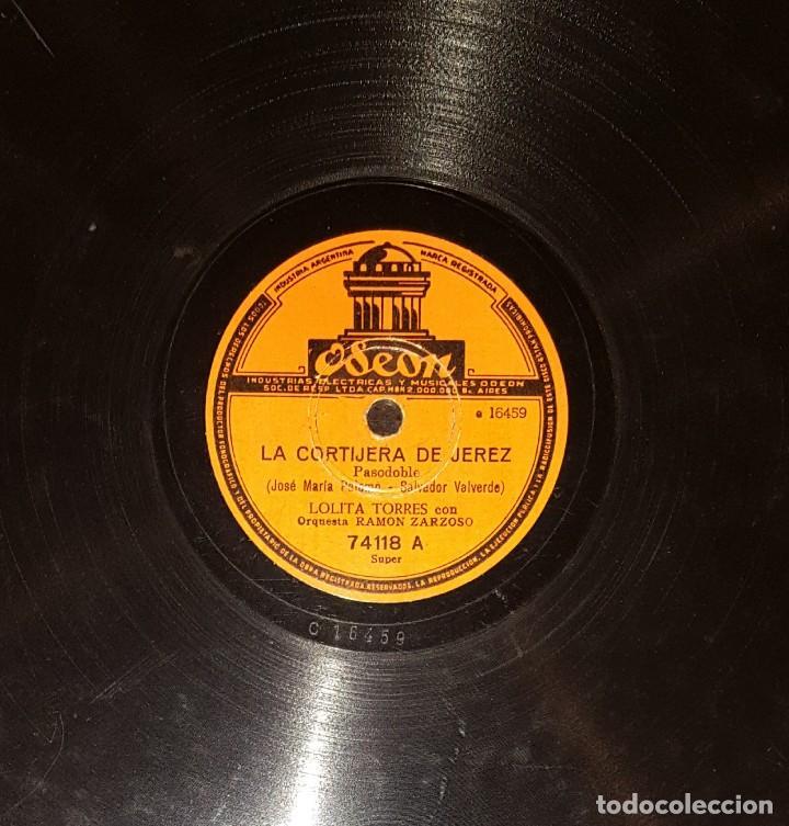 DISCOS 78 RPM - LOLITA TORRES - ORQUESTA - LA CORTIJERA DE JEREZ - EL BARQUITO - PIZARRA (Música - Discos - Pizarra - Flamenco, Canción española y Cuplé)