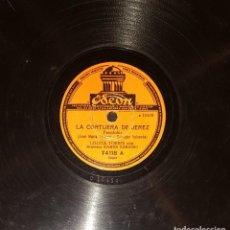 Discos de pizarra: DISCOS 78 RPM - LOLITA TORRES - ORQUESTA - LA CORTIJERA DE JEREZ - EL BARQUITO - PIZARRA. Lote 119514163