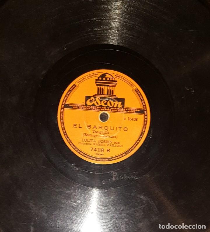 Discos de pizarra: DISCOS 78 RPM - LOLITA TORRES - ORQUESTA - LA CORTIJERA DE JEREZ - EL BARQUITO - PIZARRA - Foto 2 - 119514163