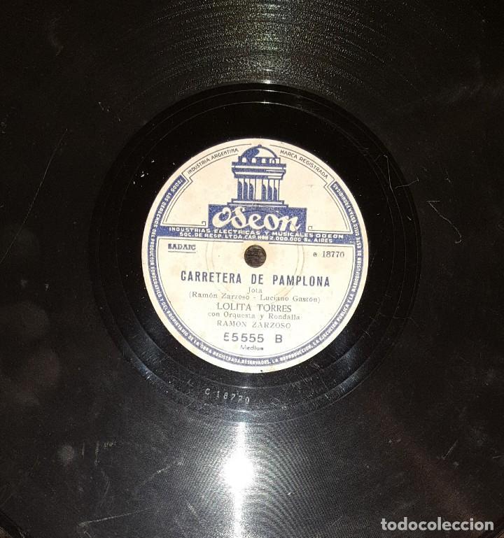 Discos de pizarra: DISCOS 78 RPM - LOLITA TORRES - NIÑO POSADAS - GUITARRA - BULERÍAS - JOTA - PIZARRA - Foto 2 - 119516171