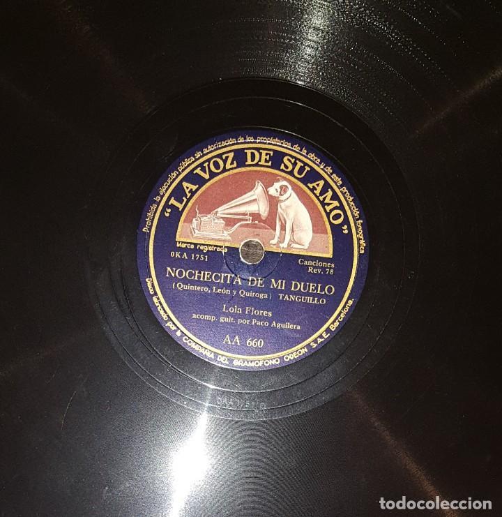 Discos de pizarra: DISCOS 78 RPM - LOLA FLORES - PACO AGUILERA - GUITARRA - BULERÍAS - TANGUILLO - PIZARRA - Foto 2 - 119518415