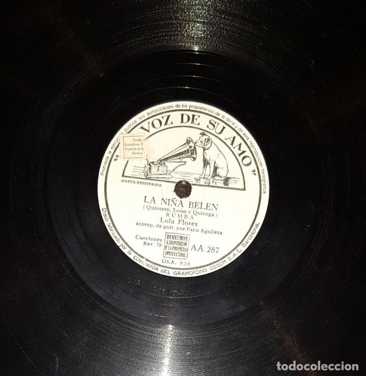 Discos de pizarra: DISCOS 78 RPM - LOLA FLORES - PACO AGUILERA - GUITARRA - FARRUCA - RUMBA - PIZARRA - Foto 2 - 119519399