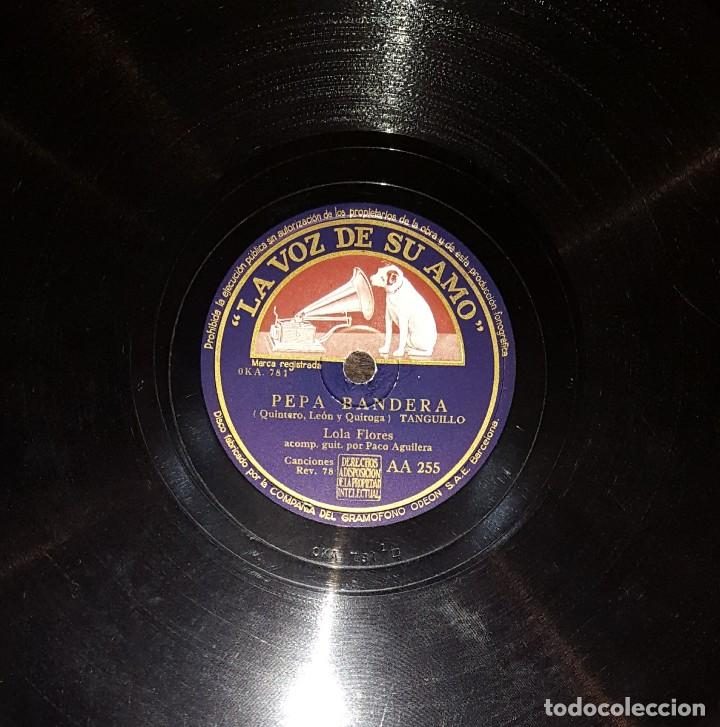 DISCOS 78 RPM - LOLA FLORES - PACO AGUILERA - GUITARRA - TANGUILLO - ZAMBRA - PIZARRA (Música - Discos - Pizarra - Flamenco, Canción española y Cuplé)