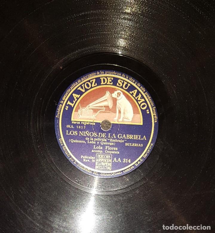DISCOS 78 RPM - LOLA FLORES - PACO AGUILERA - GUITARRA - BULERÍAS - TANGUILLO - PIZARRA (Música - Discos - Pizarra - Flamenco, Canción española y Cuplé)