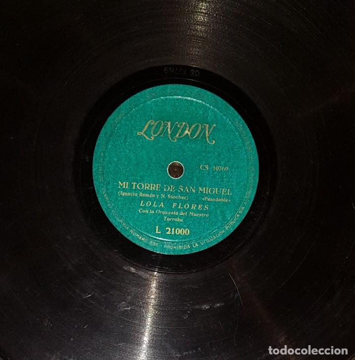 DISCOS 78 RPM - LOLA FLORES - ORQUESTA - PASODOBLE - BULERÍAS - PIZARRA (Música - Discos - Pizarra - Flamenco, Canción española y Cuplé)