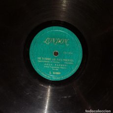 Discos de pizarra: DISCOS 78 RPM - LOLA FLORES - ORQUESTA - PASODOBLE - BULERÍAS - PIZARRA. Lote 119522547