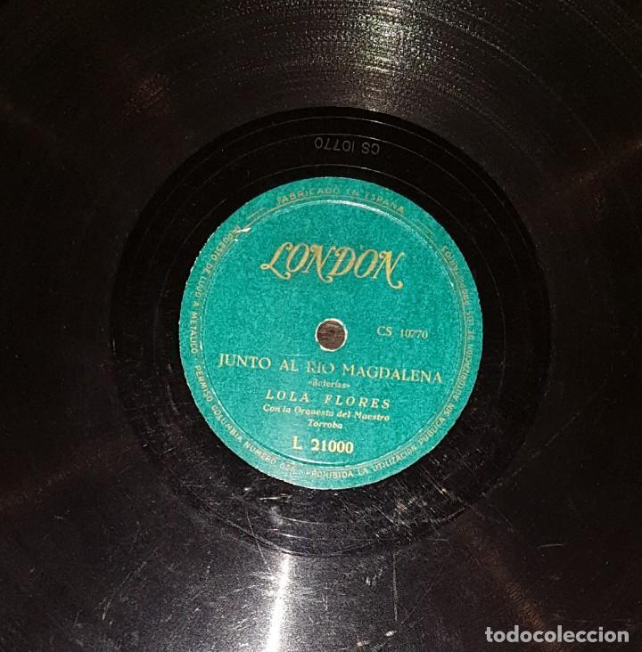 Discos de pizarra: DISCOS 78 RPM - LOLA FLORES - ORQUESTA - PASODOBLE - BULERÍAS - PIZARRA - Foto 2 - 119522547