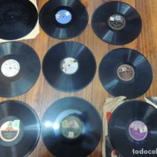 Discos de pizarra: 9 DISCOS DE PIZARRA PPOS DE SIGLO. Lote 119546483