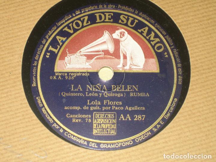 Discos de pizarra: LOLA FLORES - PIZARRA - Foto 2 - 119550707
