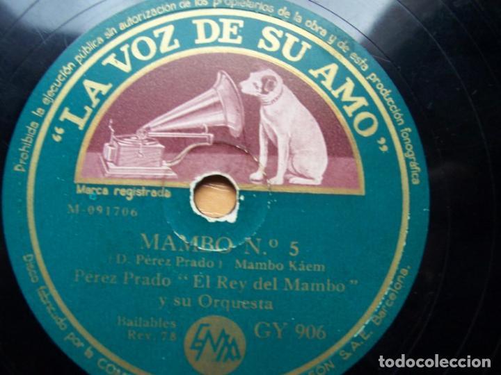 Discos de pizarra: Que rico el mambo. Perez Prado y su orquesta (78 rpm La Voz de su amo, disco pizarra, GY 906) - Foto 2 - 119593063