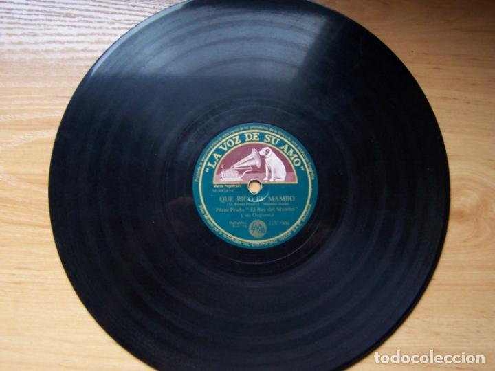 Discos de pizarra: Que rico el mambo. Perez Prado y su orquesta (78 rpm La Voz de su amo, disco pizarra, GY 906) - Foto 3 - 119593063