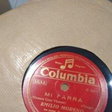 Discos de pizarra: LP DE PIZARRA DISCO EMILIO MORENO MI FARRA BUEN ESTADO. Lote 119926039