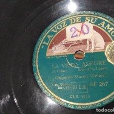 Discos de pizarra: LP DISCO DE PIZARRA ORQUESTA MAREK WEBER LA VIUDA ALEGRE BUEN ESTADO. Lote 119936159