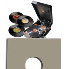 Discos de pizarra: 10 CARPETAS / FUNDAS DE CARTON CUERO DISCOS DE VINILO 10 PULGADAS Y PIZARRA / GRAMOFONO. Lote 209990586