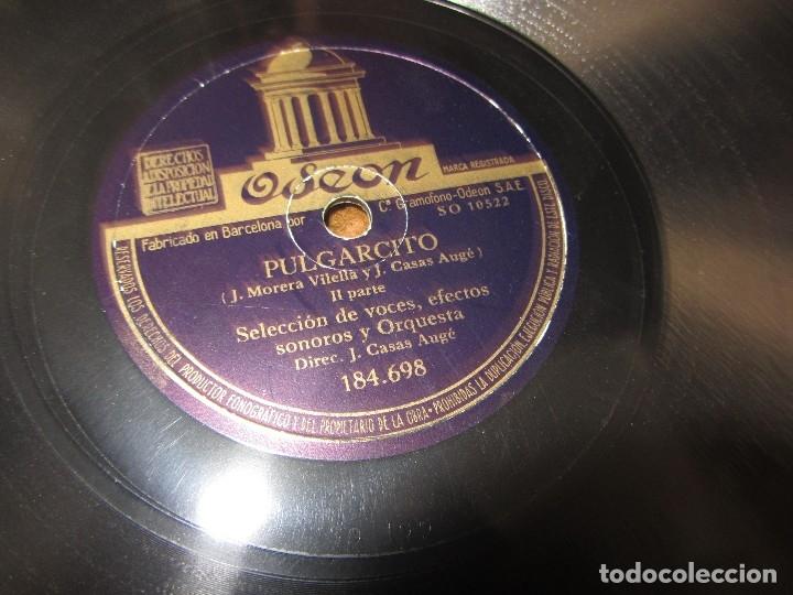 Discos de pizarra: Cuento Pulgarcito Disco de Pizarra - Odeon - - Foto 4 - 120541211
