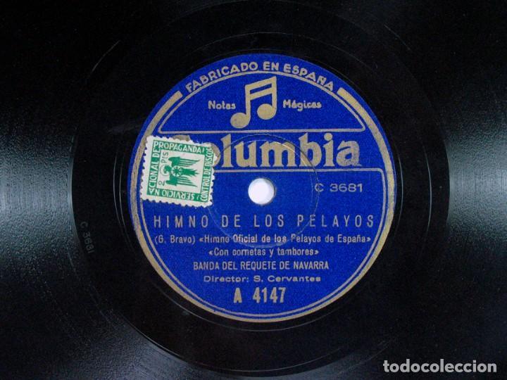 Discos de pizarra: ORIAMENDI. HIMNO TRADICIONALISTA. CARLISMO / HIMNO DE LOS PELAYOS. BANDA REQUETÉ DE NAVARRA. - Foto 2 - 120548987