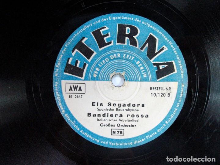 ELS SEGADORS – BANDIERA ROSA / HERMANO MIRA LA BANDERA ROJA. GUERRA CIVIL. ETERNA. BERLIN. ALEMAN (Música - Discos - Pizarra - Otros estilos)