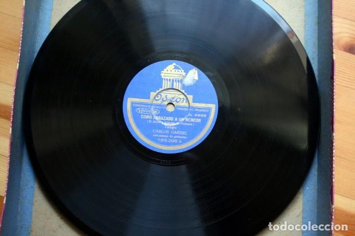 Discos de pizarra: DISCO DE PIZARRA - CARLOS GARDEL - TANGO - COMO ABRAZADO A UN RENCOR / LUCES DE BUENOS AIRES - Foto 2 - 38896950