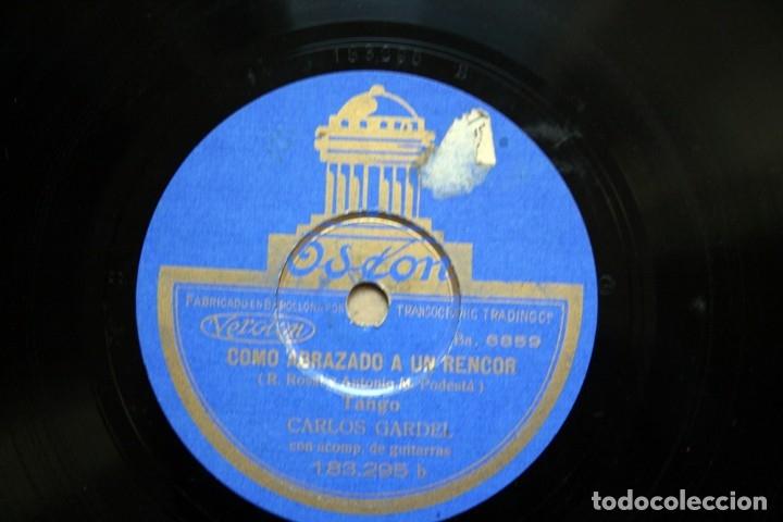 Discos de pizarra: DISCO DE PIZARRA - CARLOS GARDEL - TANGO - COMO ABRAZADO A UN RENCOR / LUCES DE BUENOS AIRES - Foto 3 - 38896950