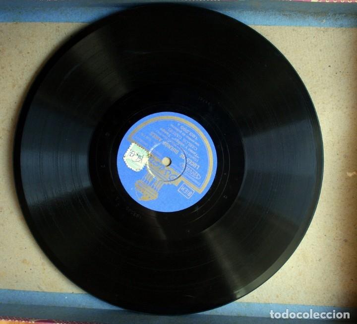 Discos de pizarra: DISCO DE PIZARRA - CARLOS GARDEL - TANGO - COMO ABRAZADO A UN RENCOR / LUCES DE BUENOS AIRES - Foto 5 - 38896950