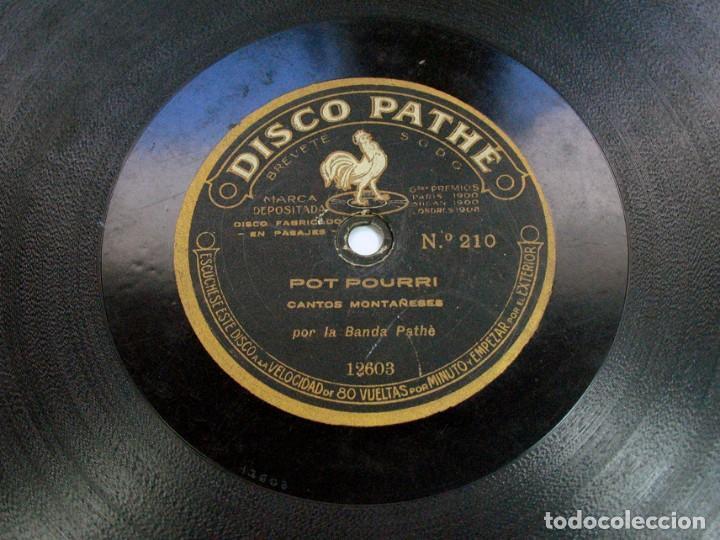 POT POURRI CANTOS MONTAÑESES / CANTOS ALBORADA ASTURIANA. DISCO PHATE. ASTURIAS. CANTABRIA (Música - Discos - Pizarra - Flamenco, Canción española y Cuplé)