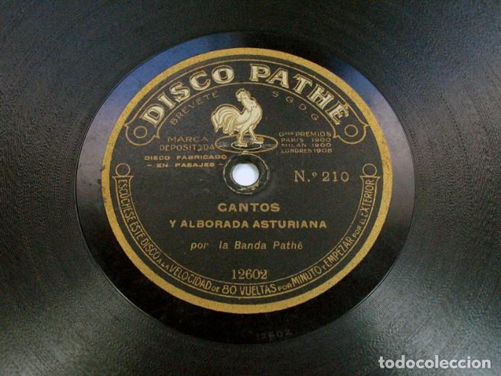 Discos de pizarra: POT POURRI CANTOS MONTAÑESES / CANTOS ALBORADA ASTURIANA. DISCO PHATE. ASTURIAS. CANTABRIA - Foto 2 - 121157075