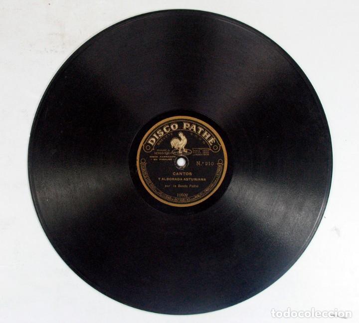 Discos de pizarra: POT POURRI CANTOS MONTAÑESES / CANTOS ALBORADA ASTURIANA. DISCO PHATE. ASTURIAS. CANTABRIA - Foto 3 - 121157075
