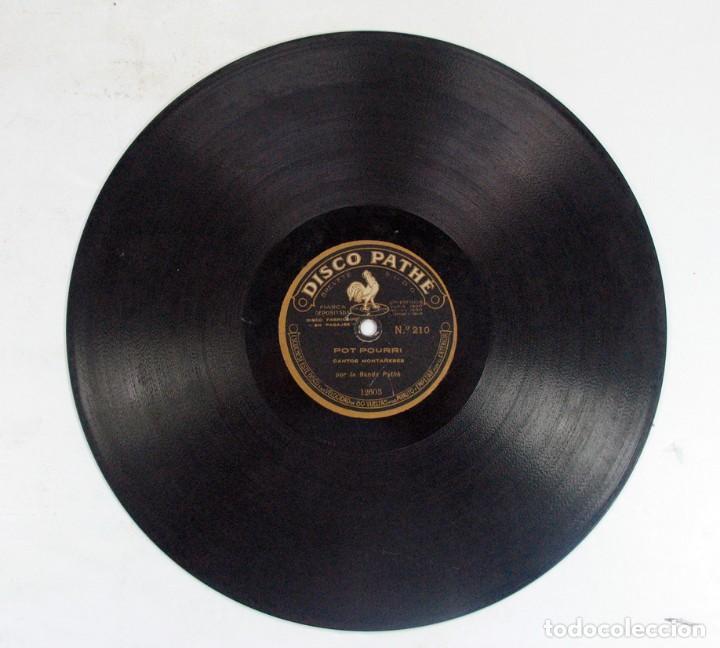 Discos de pizarra: POT POURRI CANTOS MONTAÑESES / CANTOS ALBORADA ASTURIANA. DISCO PHATE. ASTURIAS. CANTABRIA - Foto 4 - 121157075