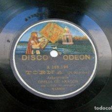 Discos de pizarra: TORNA. ASTURIANADA / VALIENTE ARAGONÉS. OFELIA DE ARAGÓN. DISCO ODEON. ASTURIAS. Lote 121157439