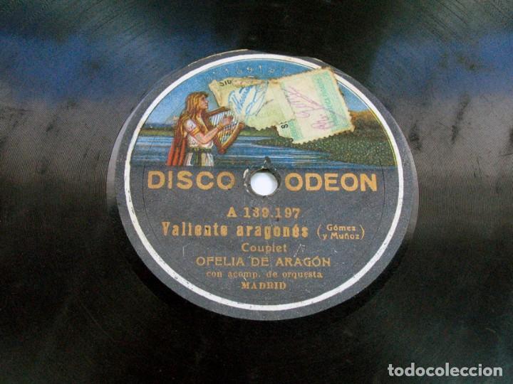 Discos de pizarra: TORNA. ASTURIANADA / VALIENTE ARAGONÉS. OFELIA DE ARAGÓN. DISCO ODEON. ASTURIAS - Foto 2 - 121157439