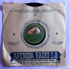 Discos de pizarra: ANGELILLO. GUAJIRAS + FANDANGUILLOS. GUITARRA DE MONTOYA. . Lote 121316811