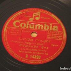 Discos de pizarra: EDMUNDO ROS Y SU ORQUESTA CUBANA - LINDA MUJER / ETHEL SMITH Y SU ORQUESTA CARIOCA - TICO-TICO. Lote 121534643
