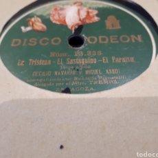 Discos de pizarra: DISCO DE PIZARRA MIGUEL ASSO Y CECILIO. Lote 121536582