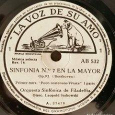 Discos de pizarra: 5 DISCOS PIZARRA SINFONÍA Nº 7 EN LA MAYOR. 5 DISCOS GRAMÓFONO. Lote 121822091