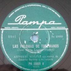 Discos de pizarra: ANTONIO MOLINA / PAMPA PN 23009 INDUSTRIA ARGENTINA. Lote 121876391